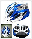 Bormart Cycling Bike Helmet,Lightweight Adult Bike Helmet with Removable Visor Specialized for Men Women Mountain Bicycle Road Safety Protection (blue+white) For Sale