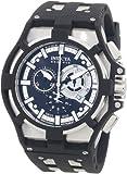 Invicta Men's 0636 Akula II Reserve Chronograph Black Dial Black Polyurethane Watch