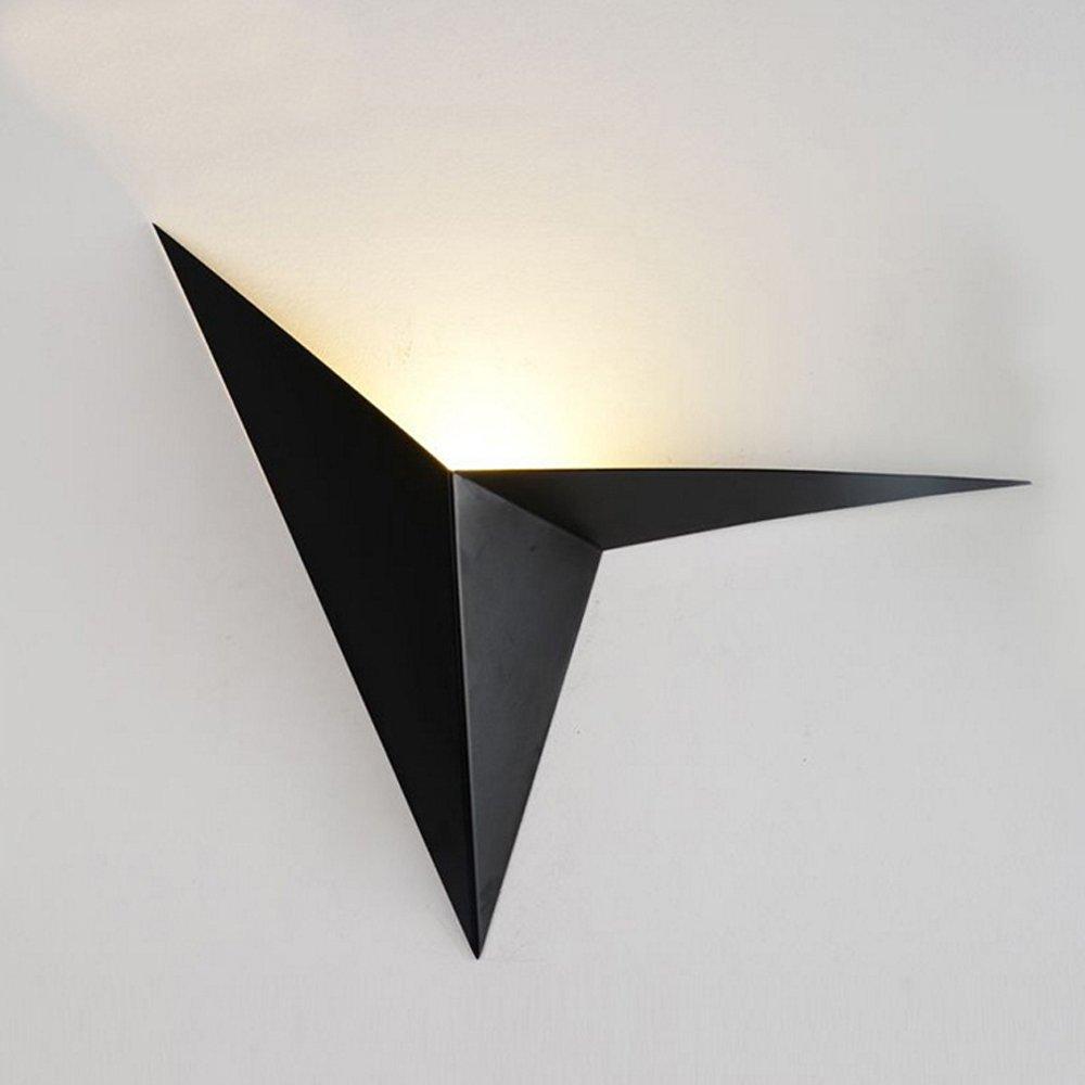 Wand Lampe Moderne Wall Light Hotel Restaurant Wandleuchte LED Eisen Material Wandleuchte Durchmesser 35Cm Schwarzwand Leuchte