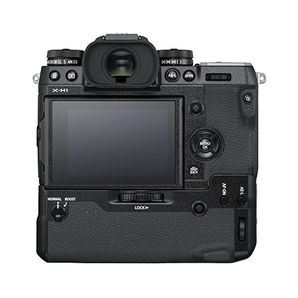 """RetinaPix Fujifilm X-H1 24 MP Mirrorless Camera Body with Vertical Power Booster Grip (APS-C X-Trans CMOS III Sensor, EVF, in-Body Image Stabilization, Fast & Accurate AF, 3"""" Tilt Touchscreen, 4K Video)-Black"""