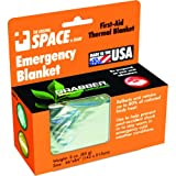 Grabber Outdoors The Original Space Brand Emergency Survival Blanket, Silver (Pack of 3)