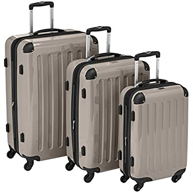 Hauptstadtkoffer - Alex - Set of 3 Hard-side Luggages Champagne Glossy, Tsa, (S, M & L), 235 Liter