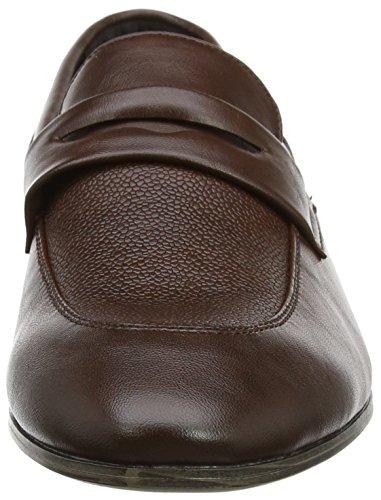 Uomo New Mocassini Brown 27 Formal Marrone Dark Look Smart Loafer TwIqxXIr