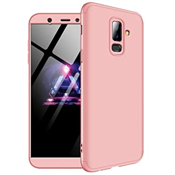 Samsung Galaxy A6 Plus 2018 Case, Ultra-Thin 3 in 1 Detachable Anti-Scratch PC Hard Case 360° Full Body Shockproof Protection Case Cover for Samsung ...