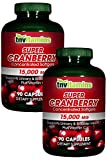 TNVitamins Cranberry 15,000 Mg Super Concentrated- 2×90 Capsules Review