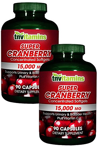 (TNVitamins Super Cranberry 15,000 mg with Vitamin C -180 Capsules)