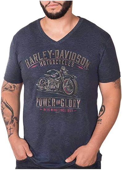 Harley-Davidson Men/'s Black Label H-D Chest Bar Stitched Short Sleeve Tee Black