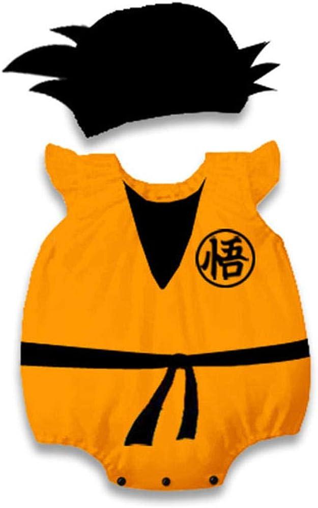 Nobranded Baby Boys Dragon Ball Goku Disfraz Cosplay Mamelucos Mono para bebé niño Halloween Fiesta de cumpleaños de Navidad Disfraces