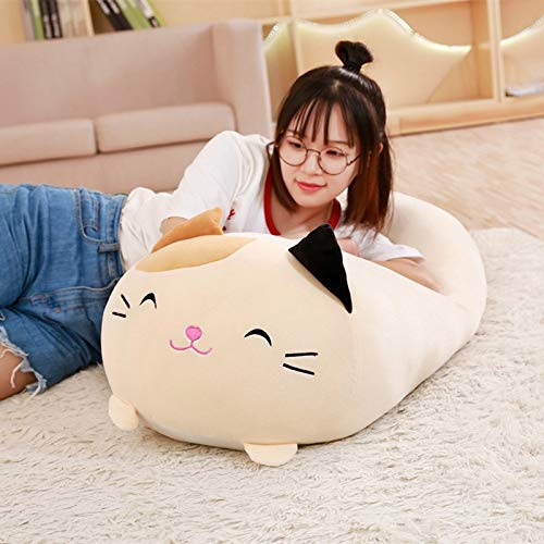 BBS Soft Animal Cartoon Pillow, Cute Fat Cat Plush Toy Stuffed Cushion for Kids Birthday Gift