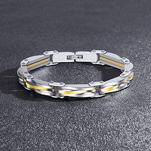 ZHHAOXINJE Minimalist Titan Stahl Armband, Handgelenk Poliert Armbänder, Exquisiter Schmuck Accessoire Weihnachten Geburtstag Männer Damen, Silvery