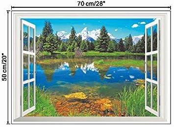 70cm*50cm, Multicolor Wall Sticker,WYXlink 3D Cool Dinosaur Vinyl Sticker Decals Park Wall Mural Kids Room Decor