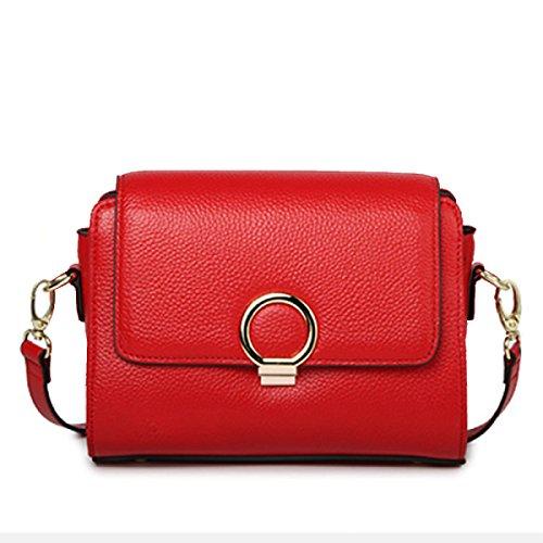 Pour Messenger Main Satchel Sac Cuir Femmes Bandoulière Petit Bag Sac à red Véritable épaule 7ftwqSYxP