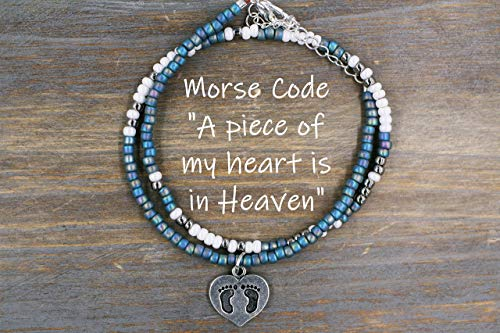 - A Piece of my Heart is in Heaven Bracelet, Memorial Gifts for loss of a loved one