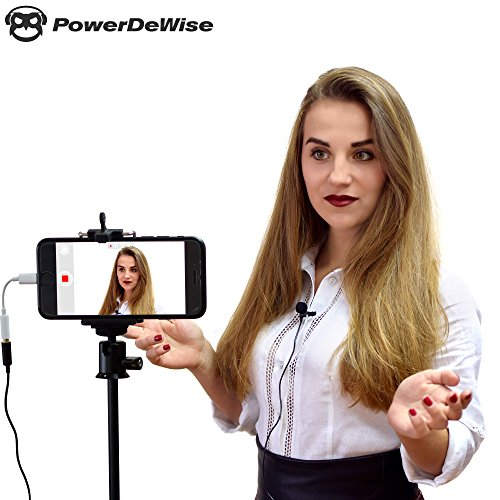 Large Product Image of Professional Grade Lavalier Lapel Microphone ­ Omnidirectional Mic with Easy Clip On System ­ Perfect for Recording Youtube/Interview/Video Conference/Podcast/Voice Dictation/iPhone/ASMR