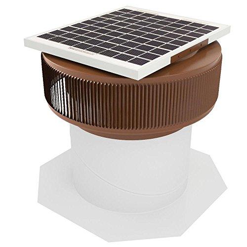 Active Ventilation 12 in. Aluminum Round 10 Watt Solar-Powered Roof Exhaust Fan in Brown