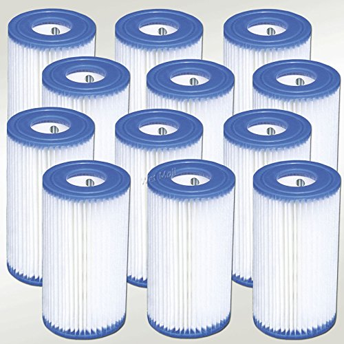 Intex Pool Easy Set Type A Replacement Filter Pump Cartridge (12 Pack) | 29000E