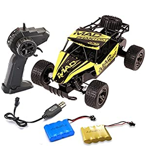 Go On 123 RC Sport Racing Car 1/20 2.4GHz 2WD Remote Control Rock Off-Road Vehicle Crawler Truck Crazy Speed Buggy Hobby Car Toys RTR Yellow