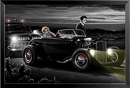 buyartforless si SP 3100 36 x 24 1,25 negro enmarcado Joy Ride por ...