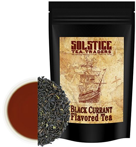Blackcurrant Flavored Loose Leaf Black Tea (8-Ounce Bulk Bag), Makes 100+ Cups of Black Currant Tea