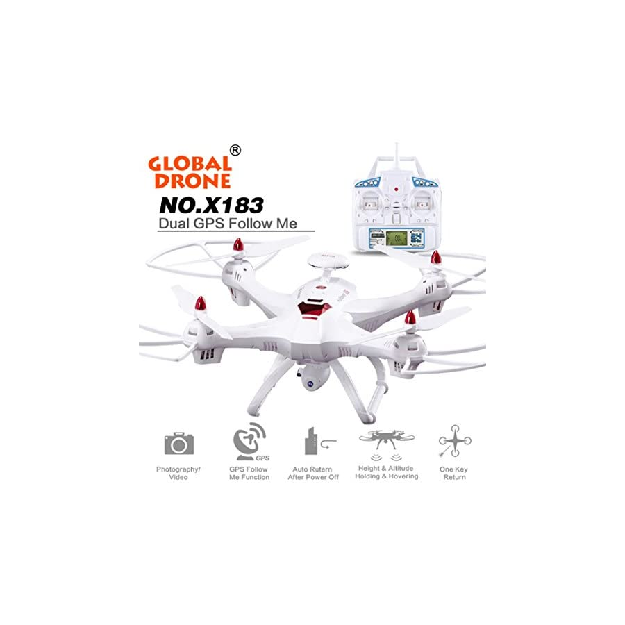 Sympath Sympath Global Drone 6 axes X183 With 2MP WiFi FPV HD Camera GPS Brushless Quadcopter