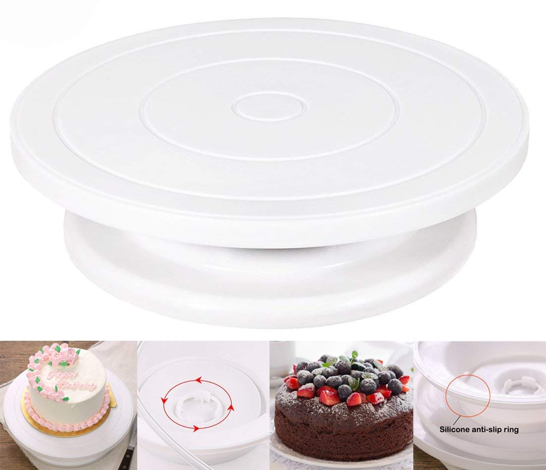 Ocharzy Cake Turntable Cake Stand Revolving Cake Decorating Stand OC46