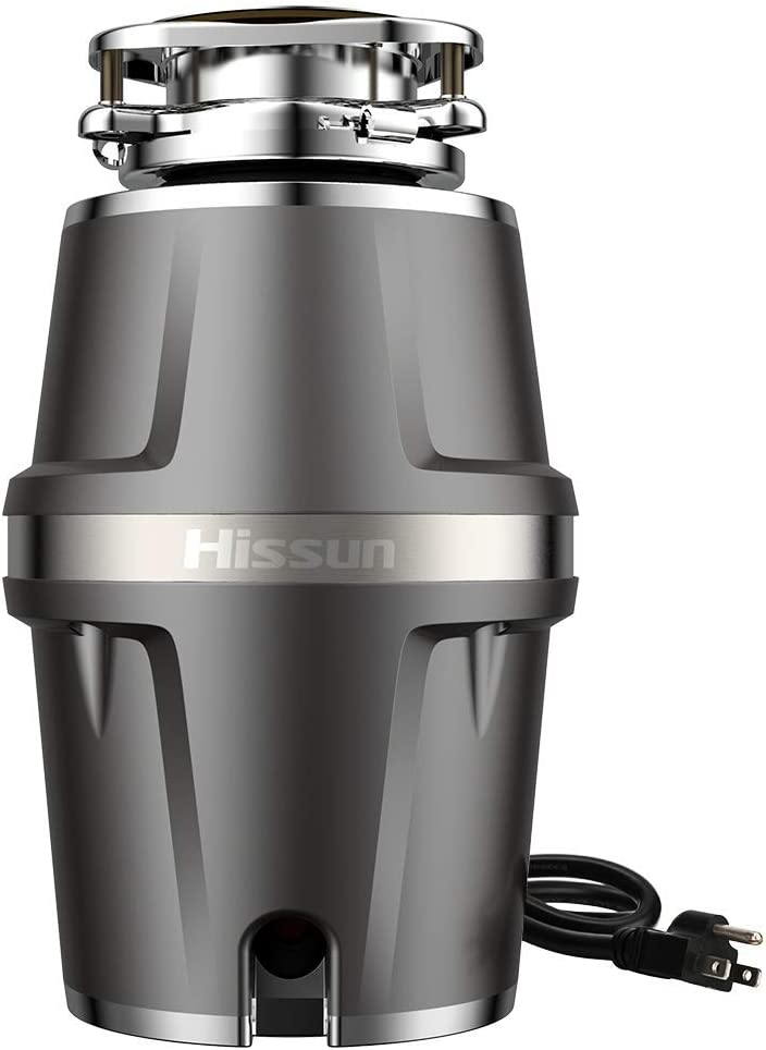 HISSUN Garbage Disposals,3/4 hp Garbage Disposal with Power Cord 7-Level Grinding 560W Food Waste Disposer for Kitchen,1.2L 4000 RPM Super Quiet