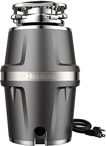 HISSUN Garbage Disposals,3 4 hp Garbage Disposal with Power Cord 7-Level Grinding 560W Food Waste Disposer for Kitchen,1.2L 4000 RPM Super Quiet