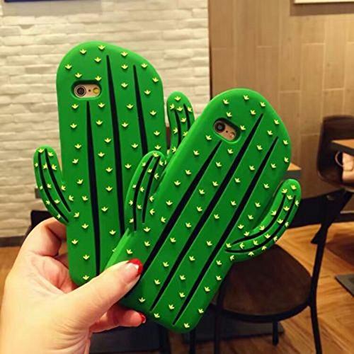 Merssavo 3D Cartoon Hot Cute Cactus Sawaii Food Silikon TPU Phone Case Cover Back für das IPhone 6/6s