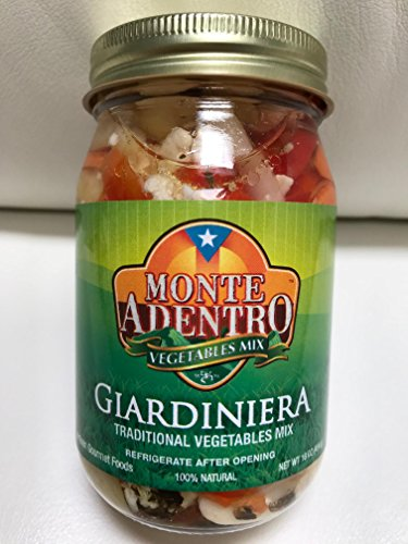 (GIARDINIERA Traditional Vegetable Mix - Zesty and Mildly Pickled - 16 oz Jar)