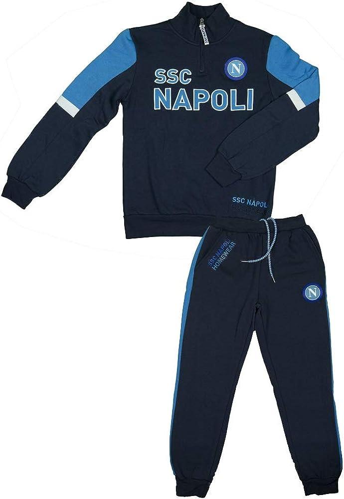 SSC Napoli Tuta Felpata Mezza Zip Ragazzo N90703