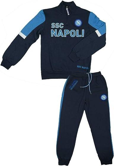 SSC Napoli Tuta Felpata con Cappuccio Ragazzo N90701 Bambini e ...