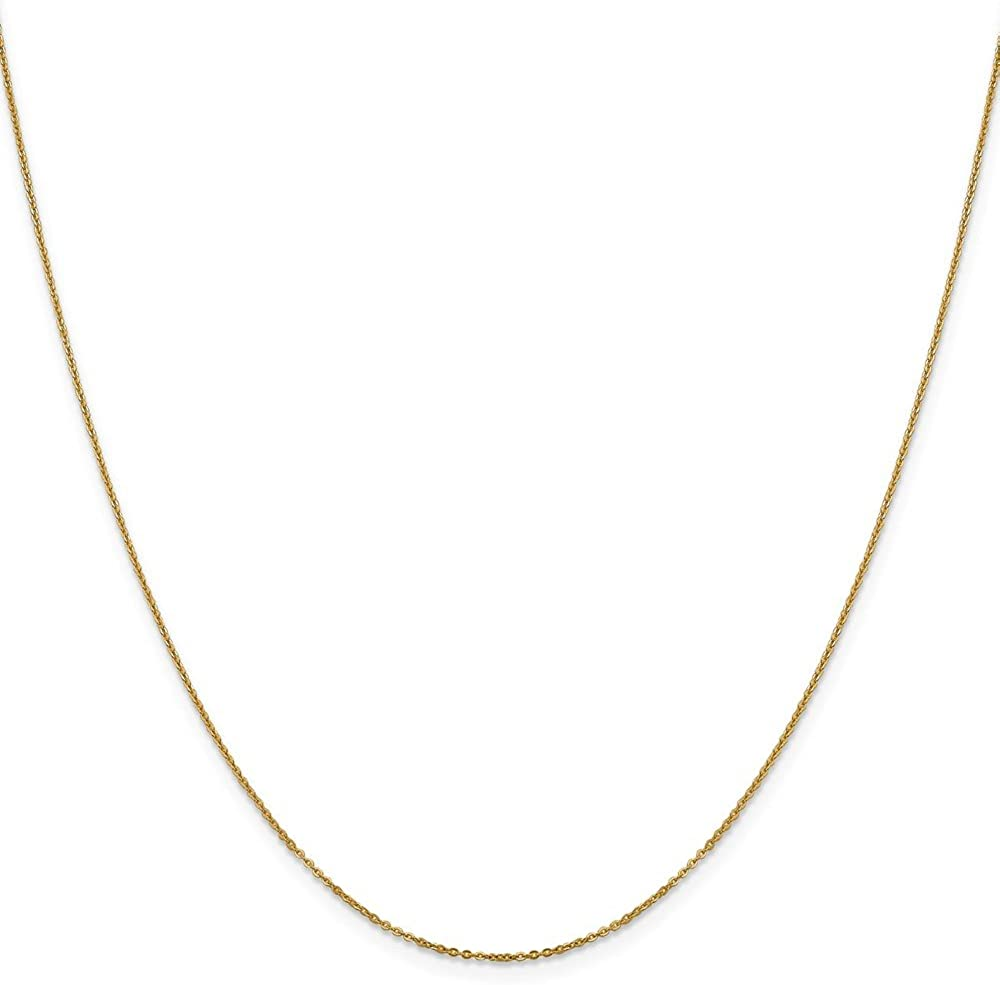 Jewelry Necklaces Chains Leslies 14K 1.1 mm Flat Cable