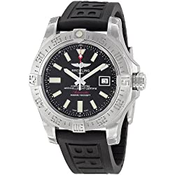 Breitling Avenger II Seawolf Black Dial Black Rubber Automatic Mens Watch A1733110-BC30BKPD3