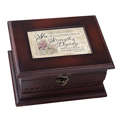 - Cottage Garden Clothed Strength Dignity Petite Woodgrain Old World Music Box Plays How Great Thou Art
