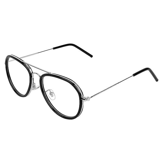 8c77a328bf Zyaden Black Aviator Unisex Eyewear Frame 395  Amazon.in  Clothing    Accessories