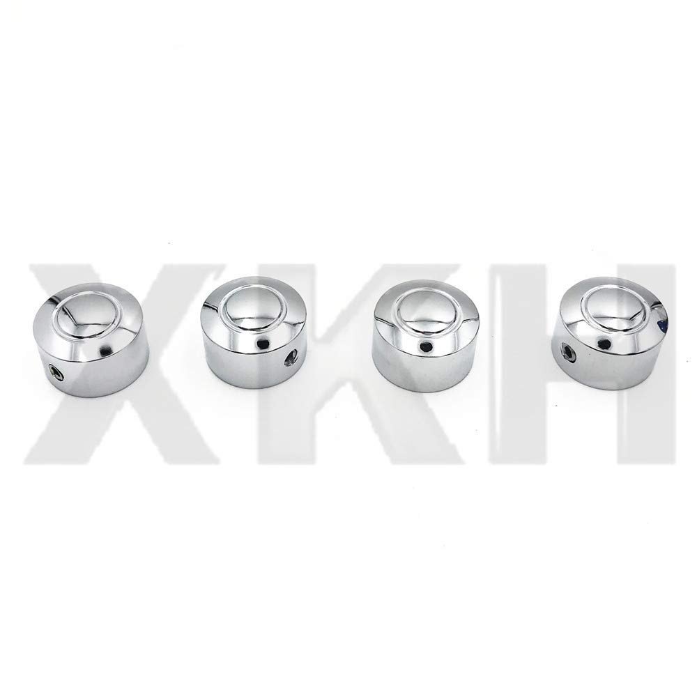 SMT- Replacement of 4PCS Bolts Toppers Caps Cover Chrome for Harley 08-13 XR XL Twin Cam Dyna