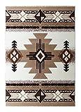 South West Native American Area Rug Design C318 Ivory (8 Feet X 10 Feet)