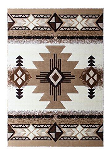 Navajo Brown Southwestern Rug - 1
