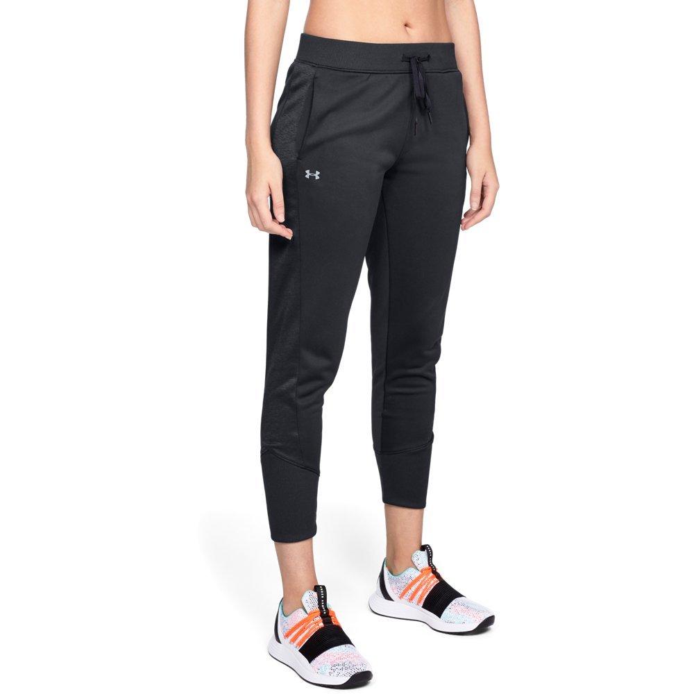 Under Armour Women's Synthetic Fleece Jogger Pant, Black (001)/Tonal, Small