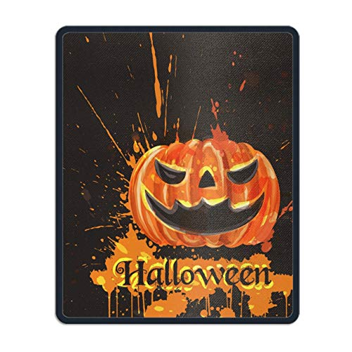 Mouse Pads Rubber Backing Custom Imaged, 11.8 x 9.8 inch - Vintage Halloween Watercolor -