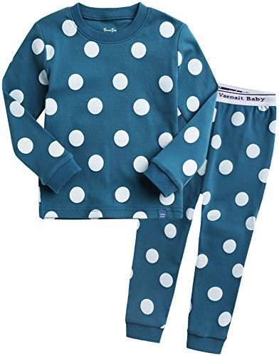 VAENAIT BABY Kids Boys 100% Cotton Sleepwear Pajamas 2pcs Set Candy Bluegreen S