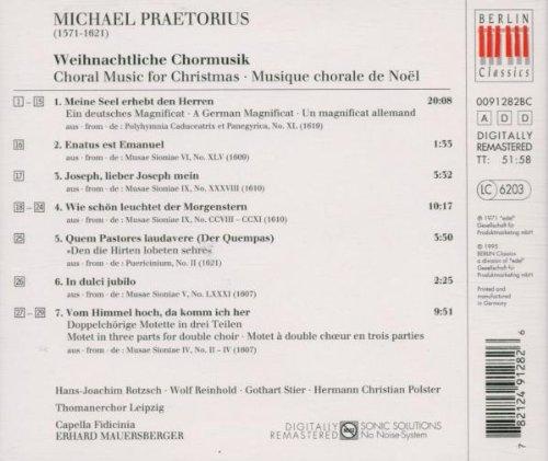 Weihnachtliche Chormusik: Praetorius