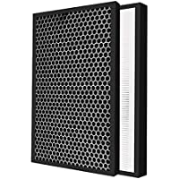 Air Purifier Replacement Filter Compatible with Sharp FZ-C150HFE FZ-C150DFE Air Purifier Filter and Carbon Filter for KC…