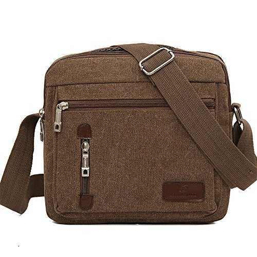 Bolsas de lona para hombres, Kukul Bolsos de hombro - 2017 Men's Crossbody Bag (26.5CM*10.5CM*23CM) D