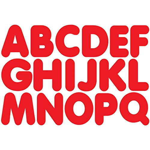 Ashley Productions Magnetic Uppercase Letters (57 Piece), Red, 1 3/4