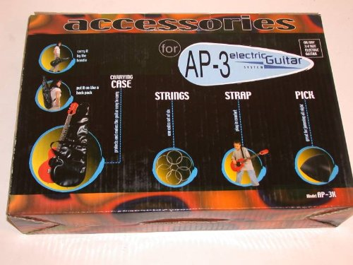 AP-3 Electric Guitar Gig Bag, Strings, & Strap Accessory Kit for 3/4 Size or 36', AP-3K by Oscar Schmidt