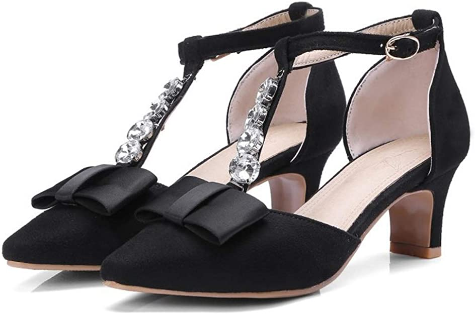 Lydee Donne Moda Kitten Heels Sandali T Strap: Amazon.it