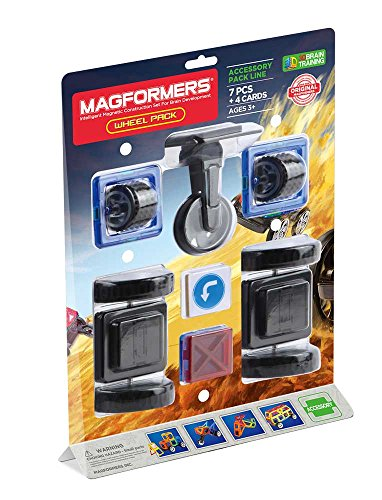 Magformers Wheel Accessory (11 Piece) pack Magnetic    Building      Blocks, Educational  Magnetic    Tiles Kit , Magnetic    Construction  STEM Toy Set