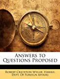 Answers to Questions Proposed, Robert Crichton Wyllie, 1143684524