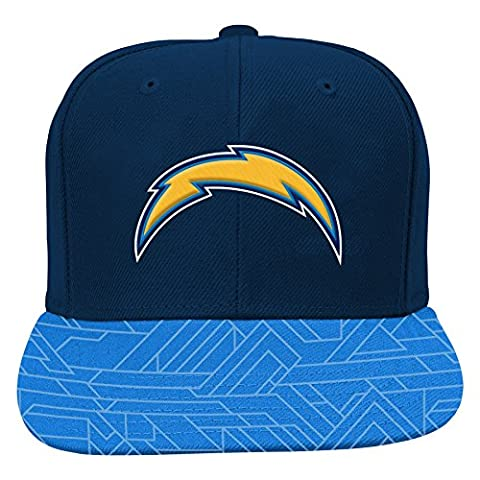 NFL San Diego Chargers Boys 8-20 Flat Visor Snap Back, One Size, Dark Navy